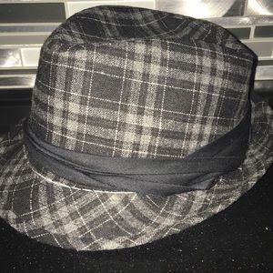 Milani Plaid Wool Blend Fadora Hat